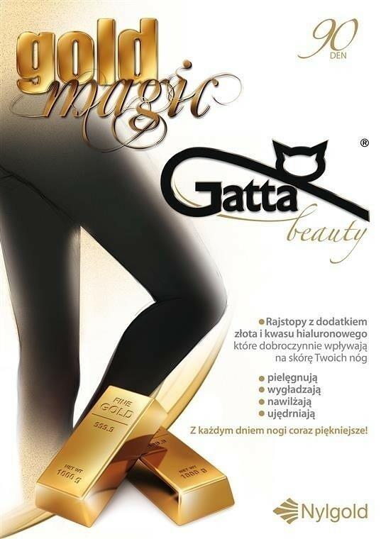 Punčochové kalhoty Gold Magic 90 den - Gatta - 3-M - černá
