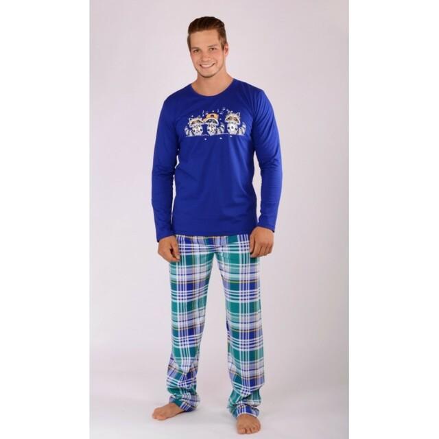 Pánské pyžamo Mývalové 4104 - Gazzaz - XXL - modrá