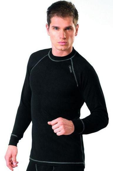 Pánské thermo triko s dlouhým rukávem Classic lll - Gwinner - L - černá
