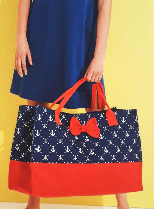 Plážová taška TR336 - Noidinotte - one size - červeno-modrá