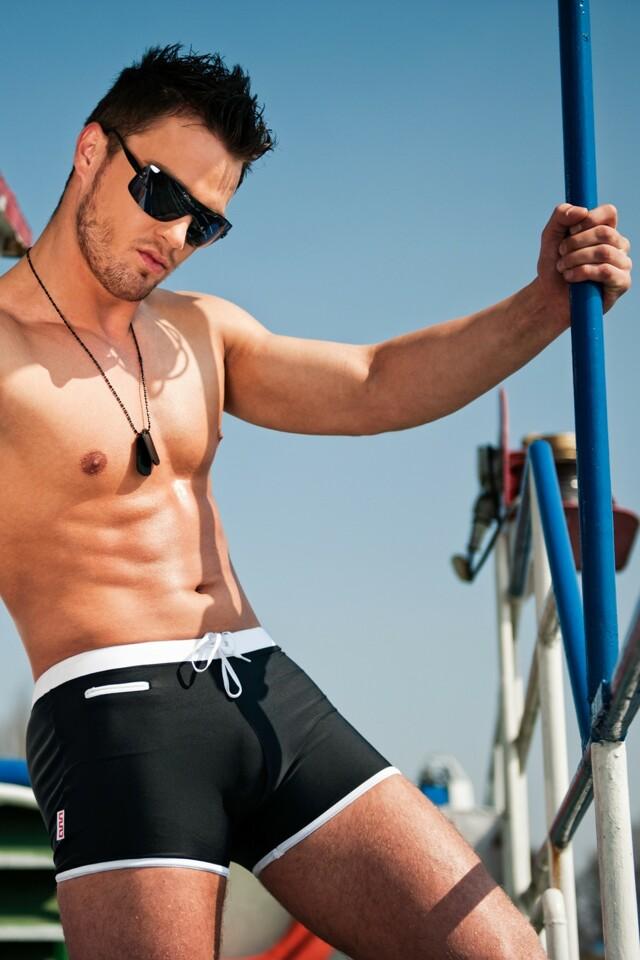Alpha Male boxerkové plavky Verso černé
