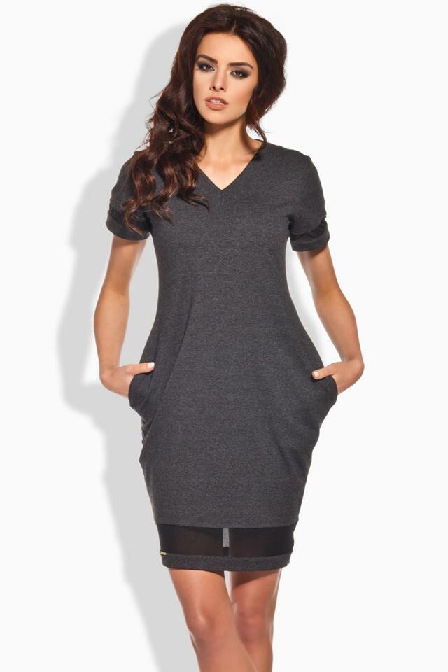 Dámské šaty Lemoniade L136 - L - světle šedá