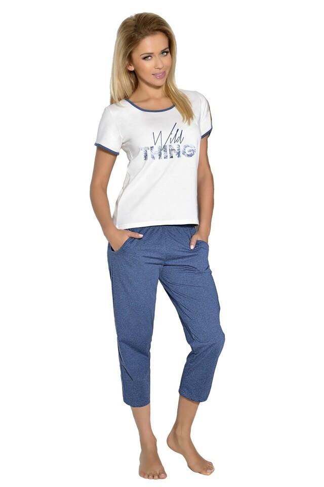 Dámské pyžamo Rozálie ecru - L