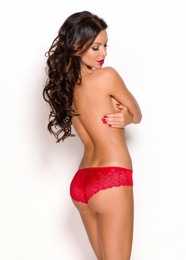 Erotické kalhotky Aprilla red - L - červená