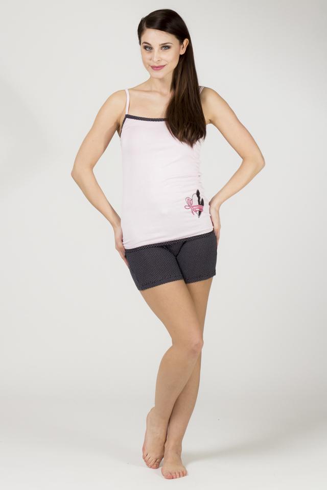 Dámské pyžamo 595 KST - CoCoon - M - růžovo-černá