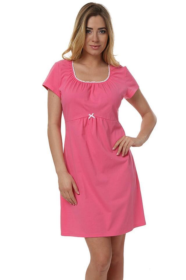 Mateřská noční košile IPásn Fashion Dagna kr.r. - L - růžová