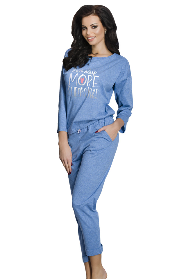 Dámské pyžamo Jamie modré - S