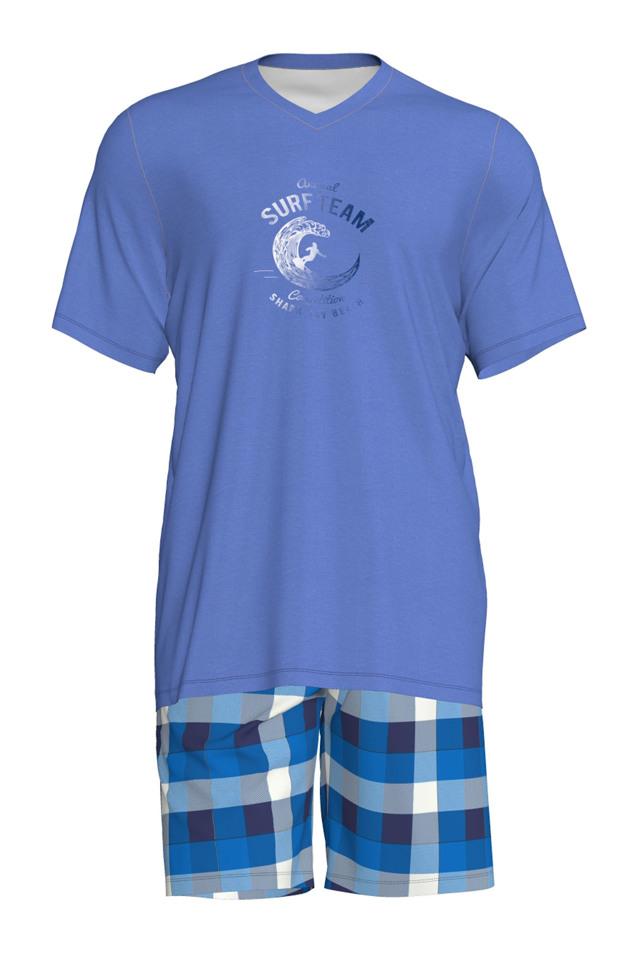 Pánské pyžamo 6183 - Vamp - XL - modro-bílá