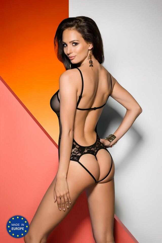 Erotické body Jovita black - L/XL - černá