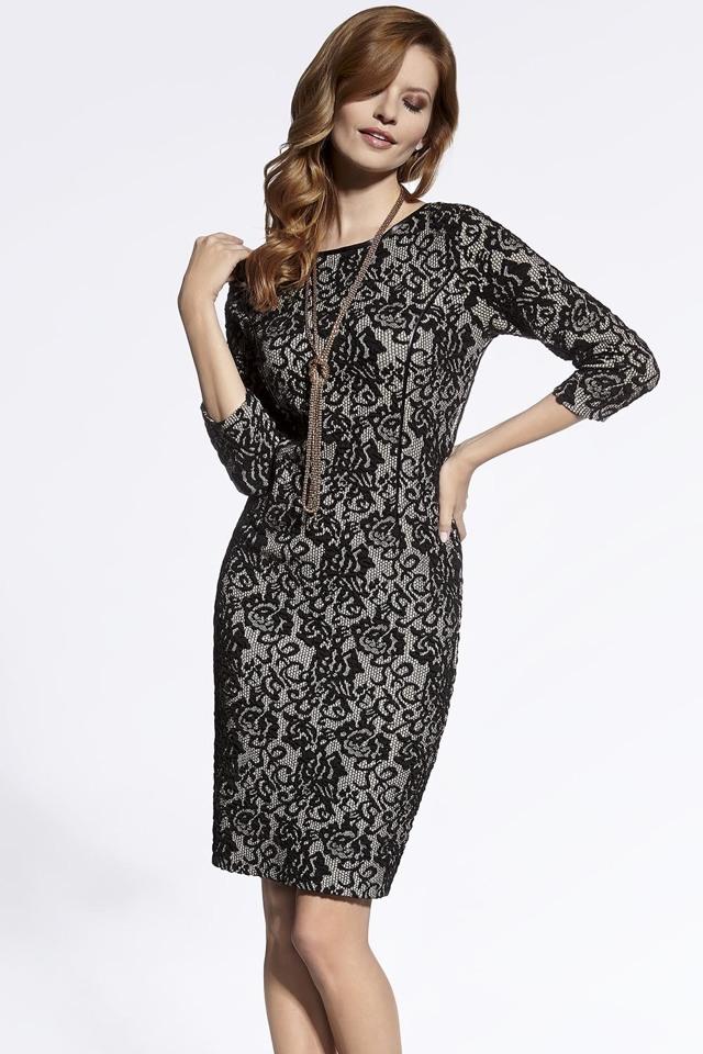 Dámské šaty Enny 200011 - 40 - černo-béžová