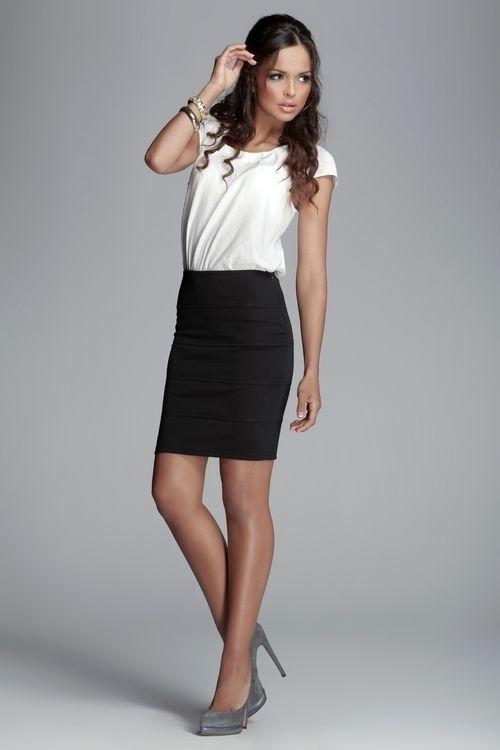 Dámská sukně M084 black - L - černá