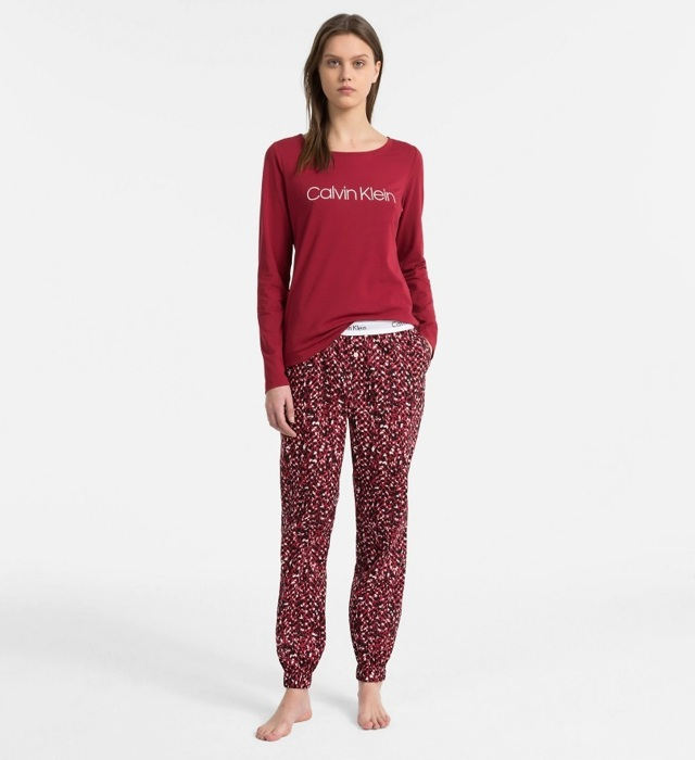 Dámské pyžamo QS6154-MZY červená - Calvin Klein - XS - červená