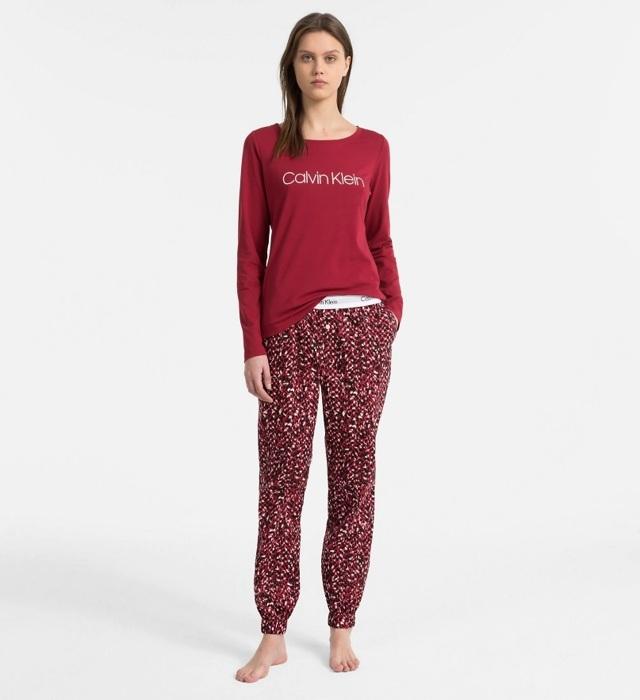 Dámské pyžamo QS6154-MZY červená - Calvin Klein