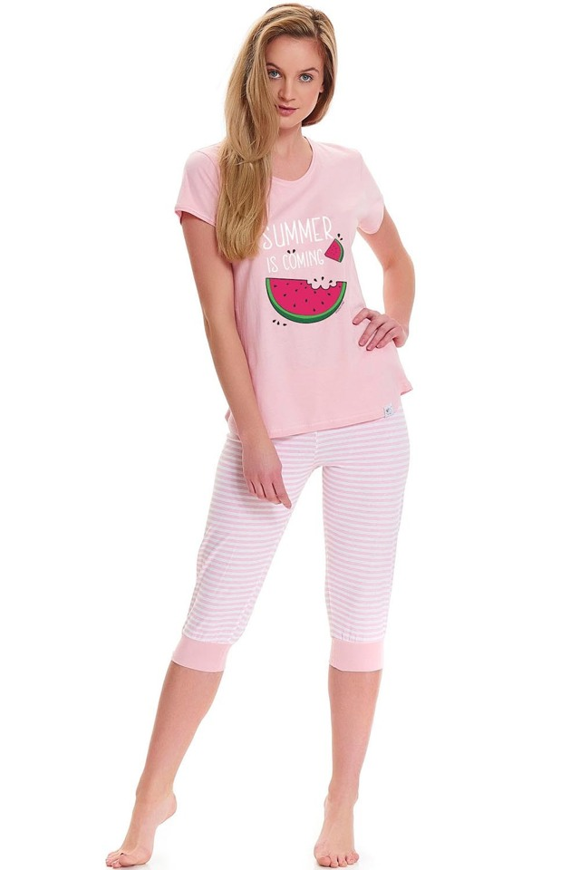 Dámské pyžamo Dn-nightwear PM.9426 - L - sweet pink