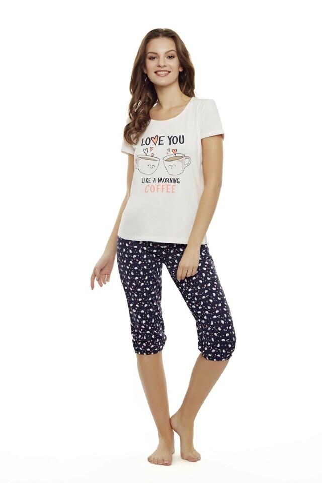 Dámské pyžamo 35832 03 - M - meruňka