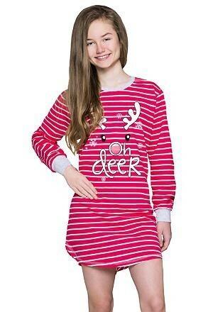 Dívčí noční košile Lisa sob červená