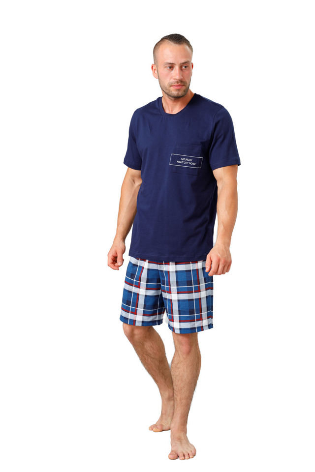 Pánské pyžamo 812 IKAR - tmavě modrá - L