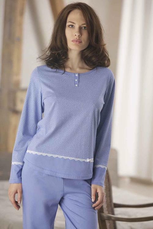 Dámské pyžamo Cana 322 - S - modrá