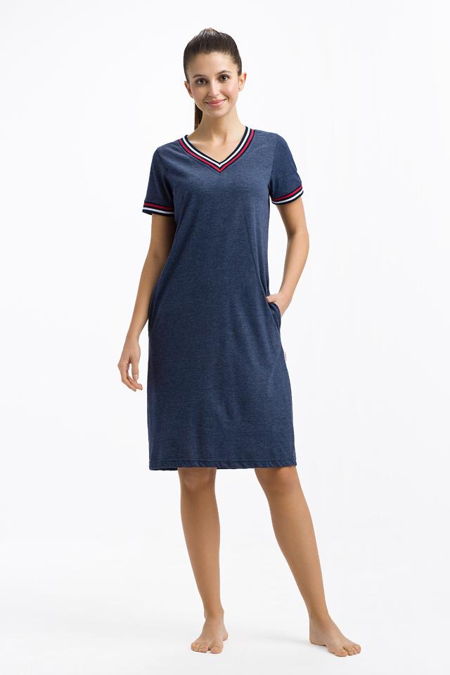 Dámská noční košile 248 - Luna - L - tmavě modrá