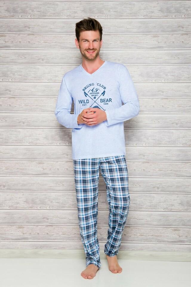 Pánské pyžamo 2130 blue - M - světle modrá