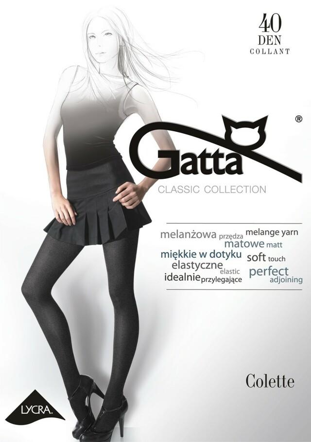 COLETTE 1 - Dámské punčochové kalhoty - GATTA - 3-M - ŠEDÁ ŽÍHANÁ