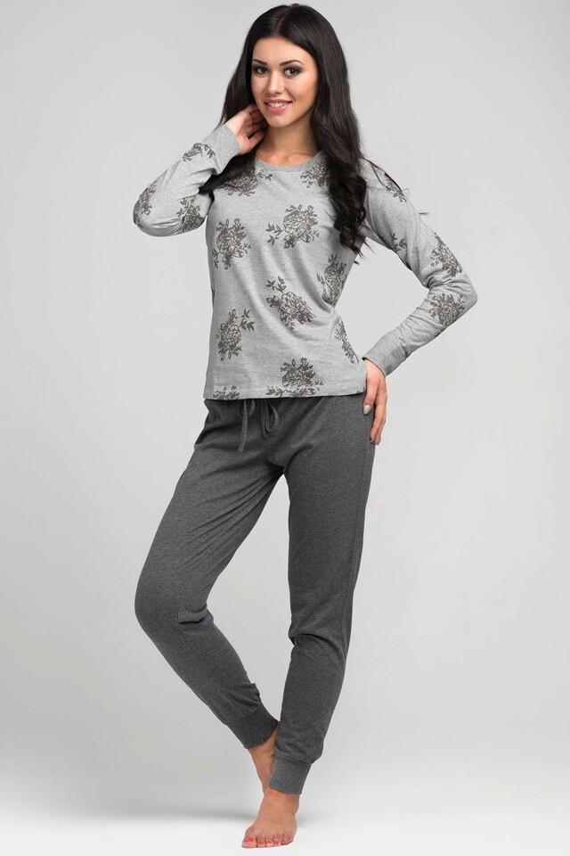 Pohodlné dámské pyžamo Rossli SAL-PY 1034 - XL - světle šedá