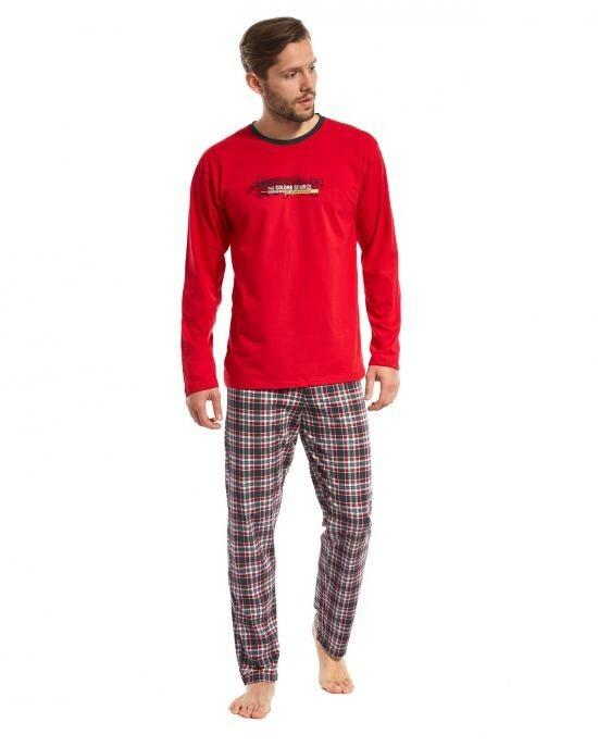 Pánské pyžamo 124/87 Display - Cornette - XXL - červená