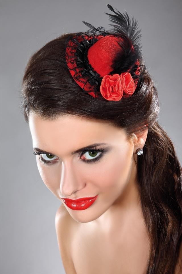 Ozdoba Mini top Hat 20 - Univerzální - červená