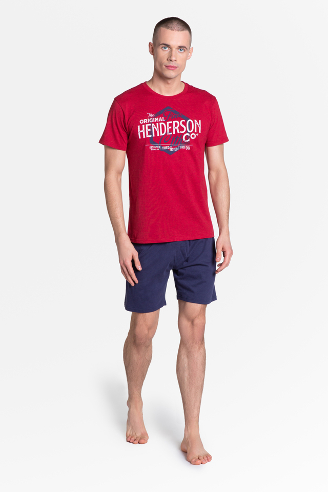 Pánské pyžamo LARS 38869 - Červené - XXL