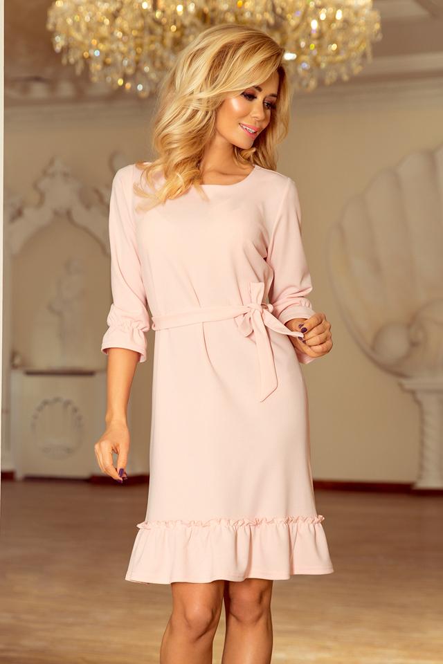 Dámské šaty 193-2 - L - pudrově růžová