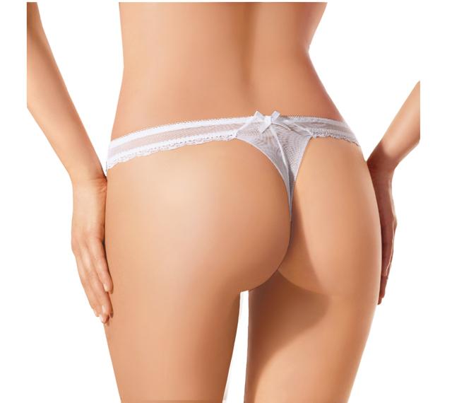Dámské kalhotky N018 - EWANA - M - BÍLÁ