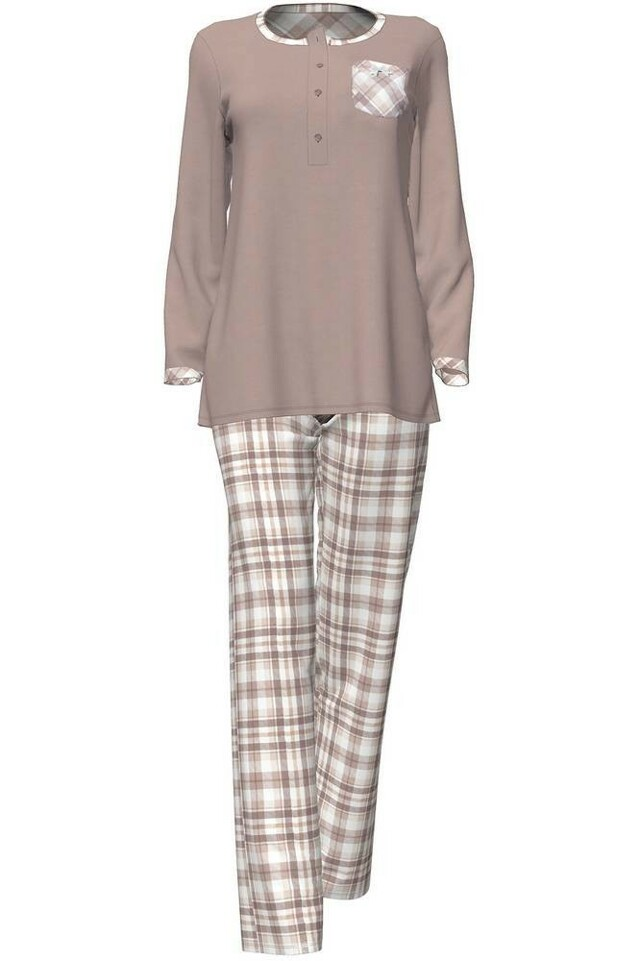 Dámské pyžamo 4713 - Vamp - XL - hnědá