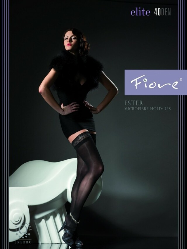 Punčochy Fiore Ester E 4001 40 DEN - 4-L - černá