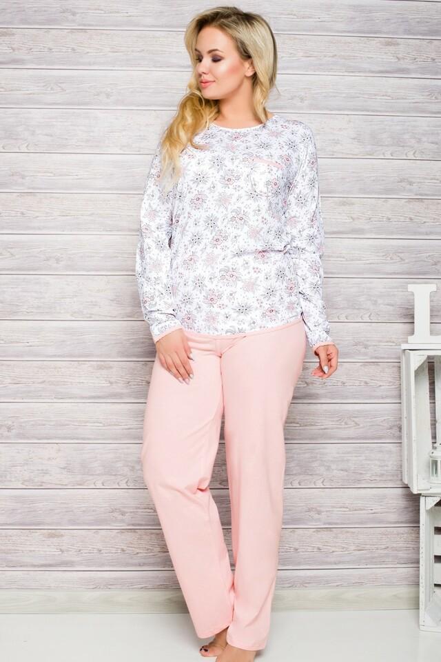 Dámské pyžamo 2132 pink - XXL - růžová