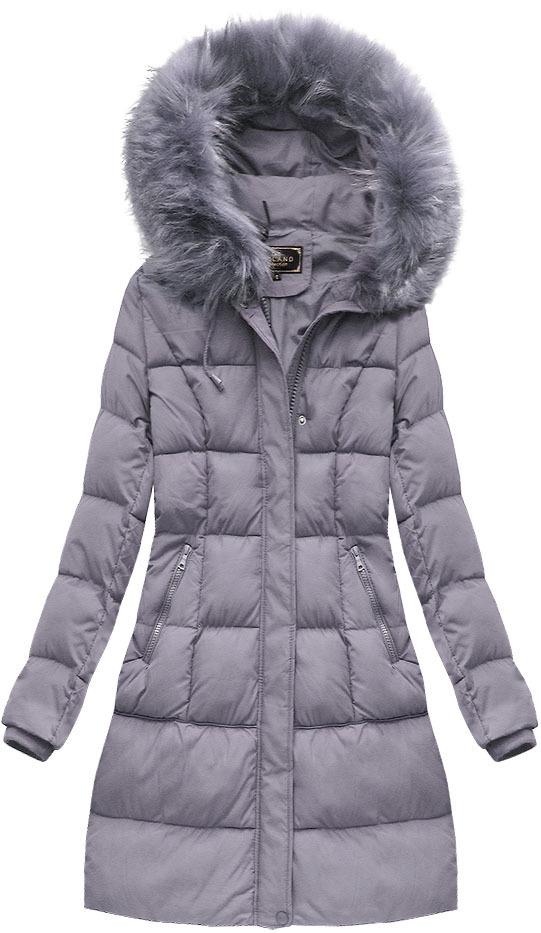 cfde23eed919 Vřesová dámská zimní bunda s kapucí (7757) - M (38) - fialová