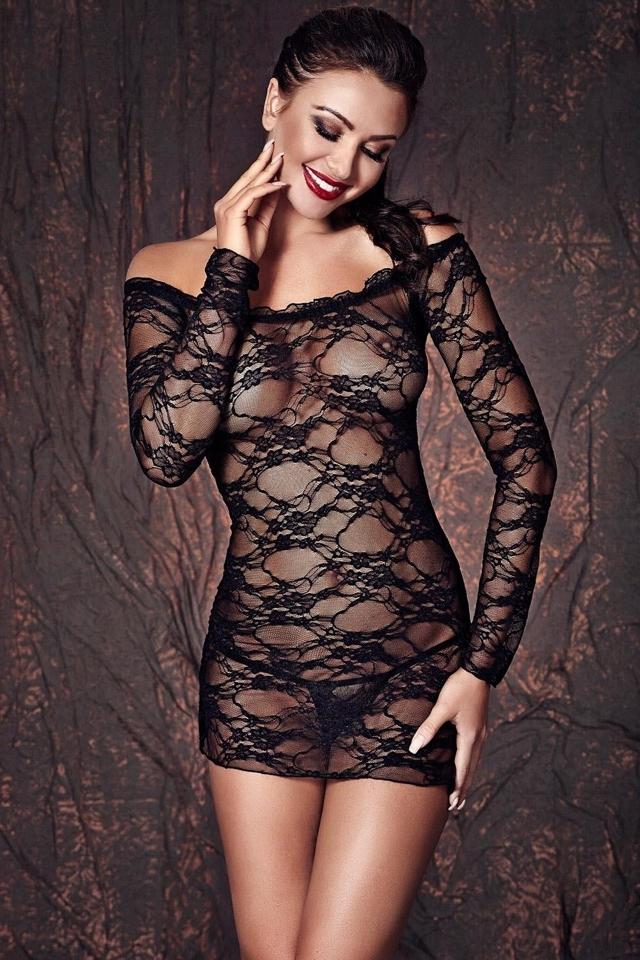 Erotická souprava Lynette - XXL - černá