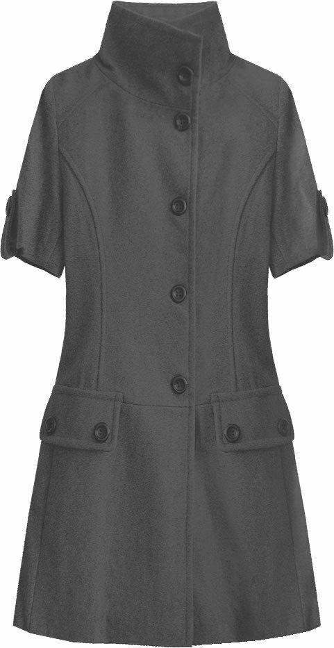 Černý rozšířený kabátek (1091) - S (36) - černá
