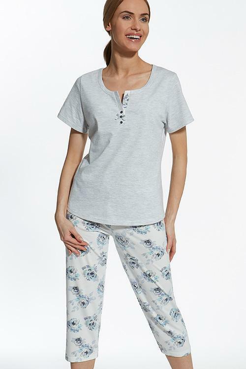 Dámské pyžamo Cana 311 - XL - šedá (melanž)