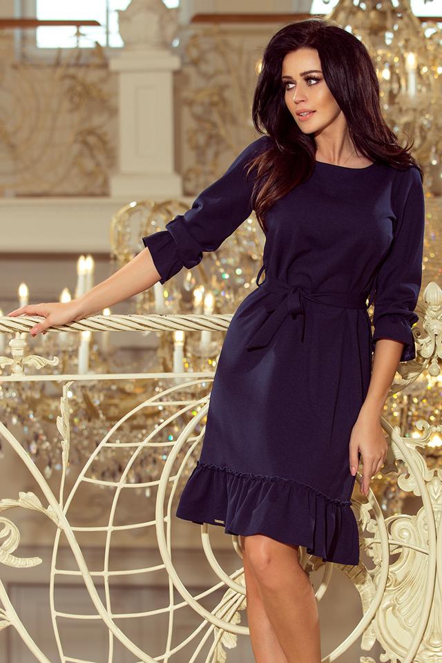 Dámské šaty 193-3 - L - tmavě modrá