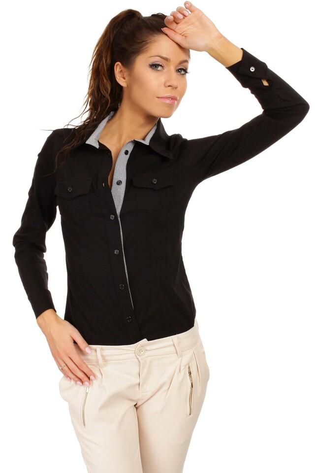 Dámská košile M021 - MOE - 42 - černá