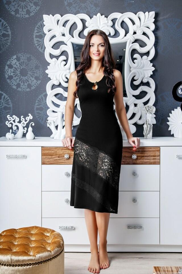 Dámská noční košile Gaia Amber Edition NKV 107 - L - černá