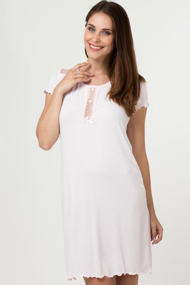 Dámská noční košile 11508 - Sabrina - S - růžová