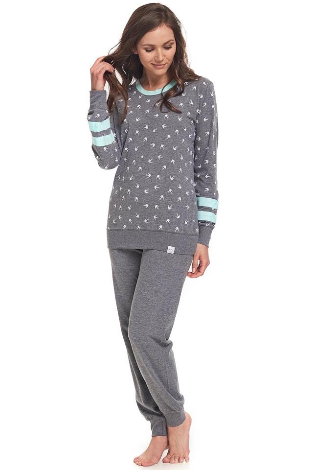 Dámské pyžamo Dn-nightwear PM.9309 - M - šedá