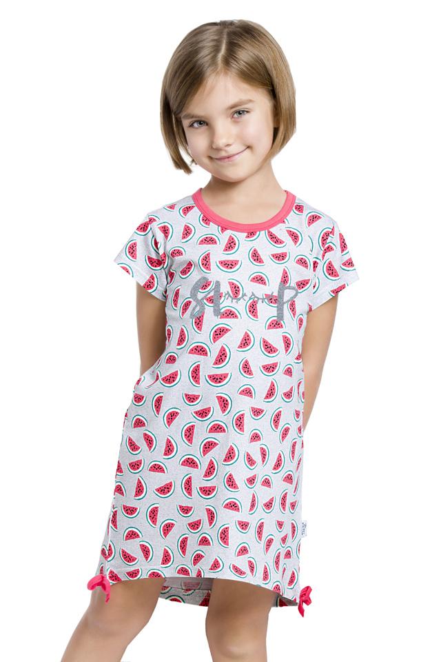 Dívčí noční košilka Lilie šedá s melouny - 122