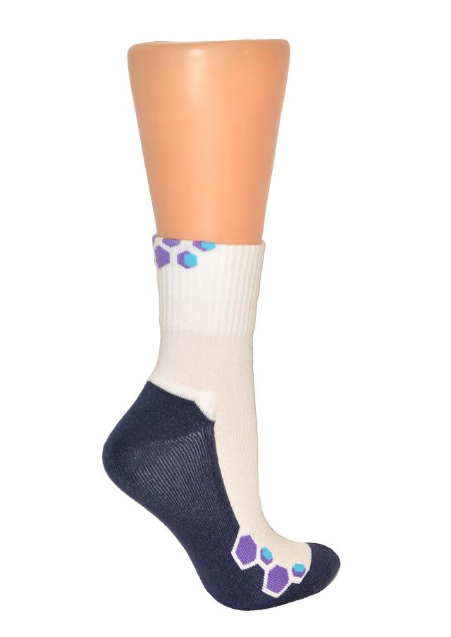 Ponožky Gramark Coach Fitness 0487 - 36-38 - tmavá-mix vzorů
