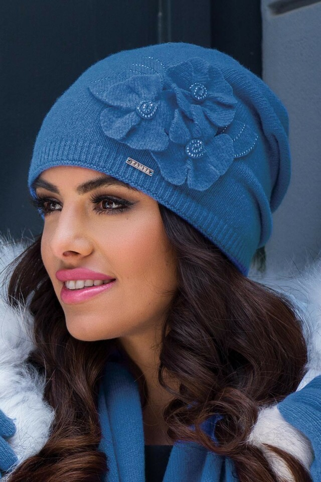 Dámská čepice Kamea Daria - UNI - modrá