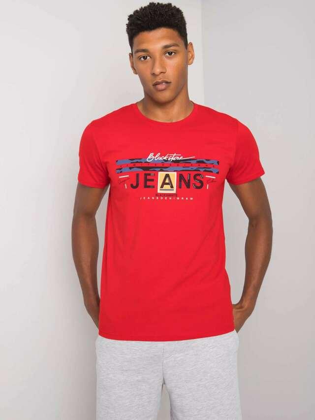 Červené bavlněné pánské tričko - L