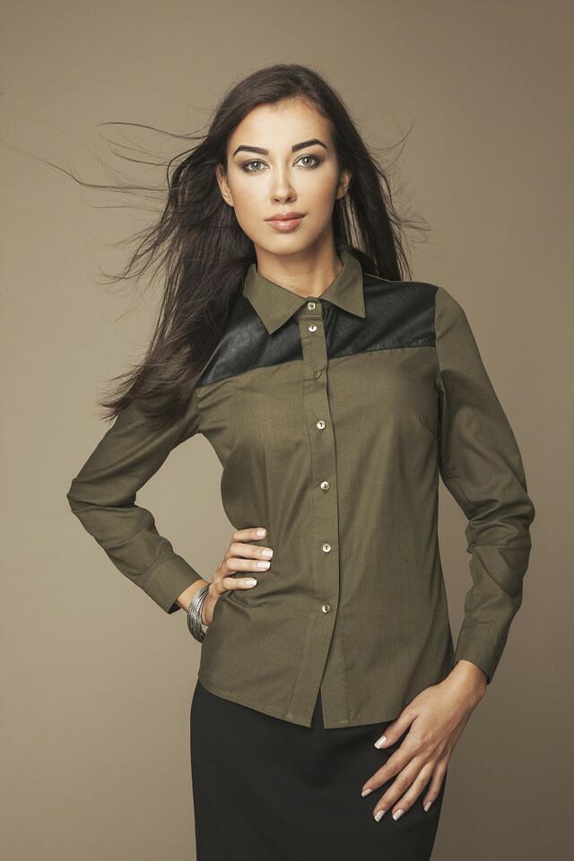 Dámská košile 009 zelená - Ambigante - XS - zelená