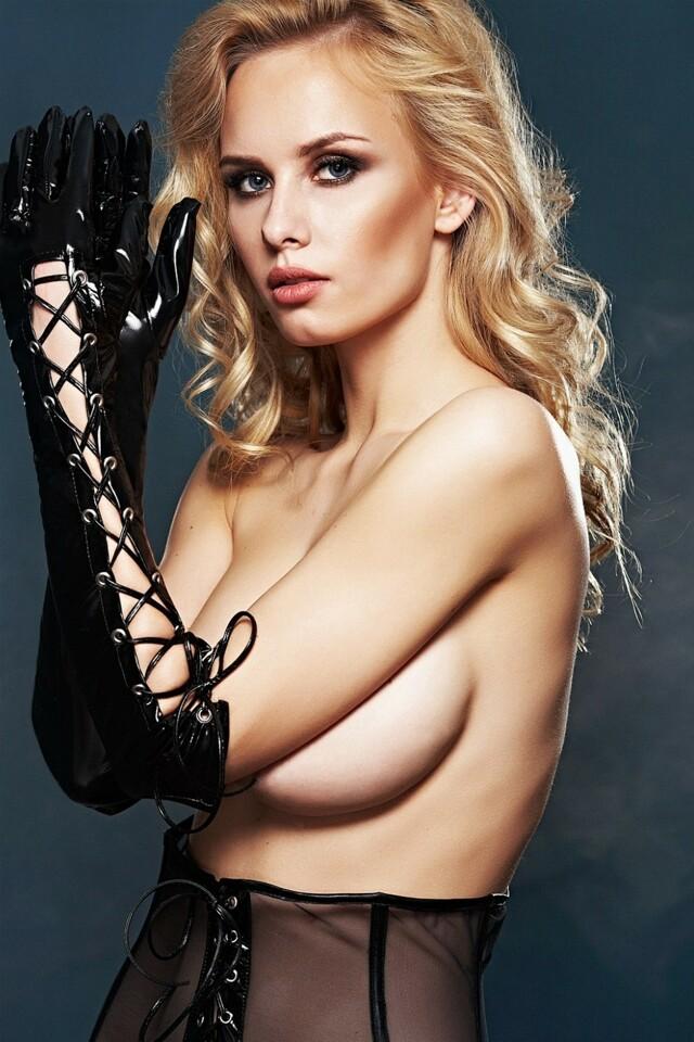 Erotické rukavičky A0212 - L/XL - černá