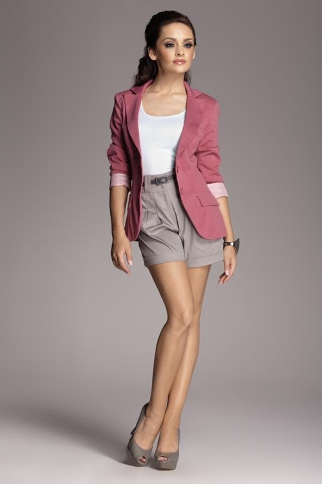 Dámské sako M085 pink - XL - růžová